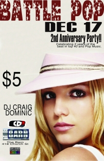 battle pop Britney 2nd anniversary