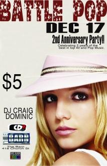 battle pop Britney 2nd anniversary